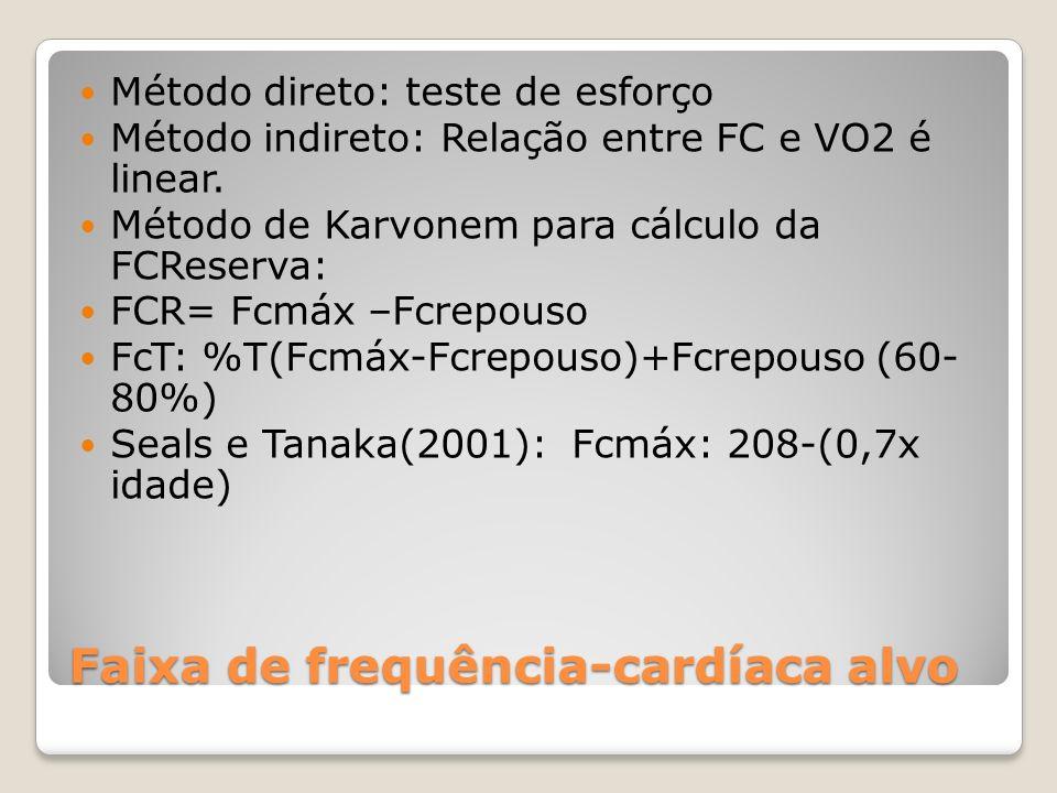 Faixa de frequência-cardíaca alvo