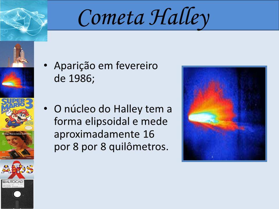 Cometa Halley Aparição em fevereiro de 1986;
