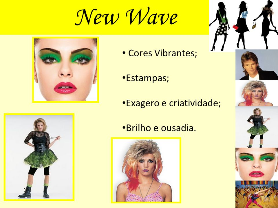 New Wave Cores Vibrantes; Estampas; Exagero e criatividade;
