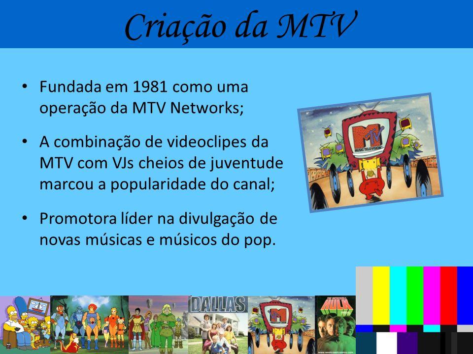Criação da MTV Fundada em 1981 como uma operação da MTV Networks;