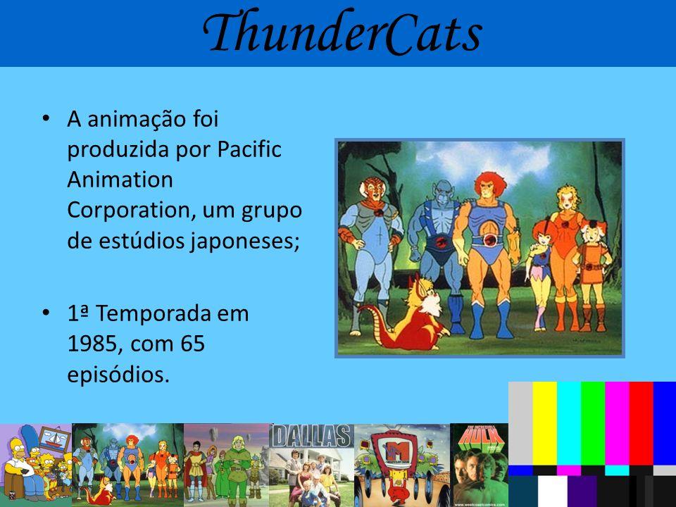 ThunderCats A animação foi produzida por Pacific Animation Corporation, um grupo de estúdios japoneses;