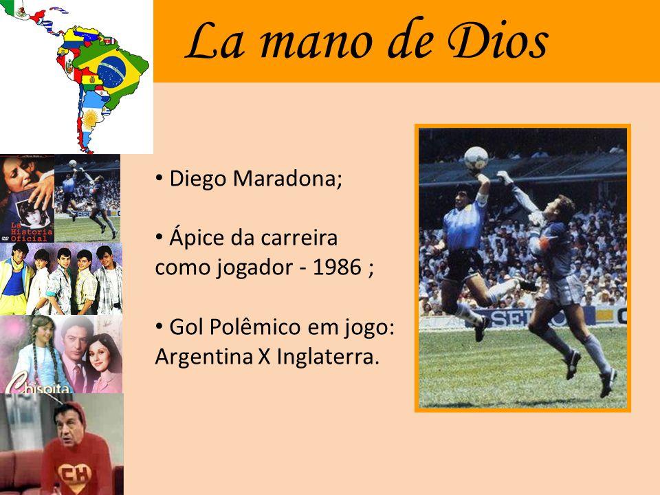 La mano de Dios Diego Maradona;