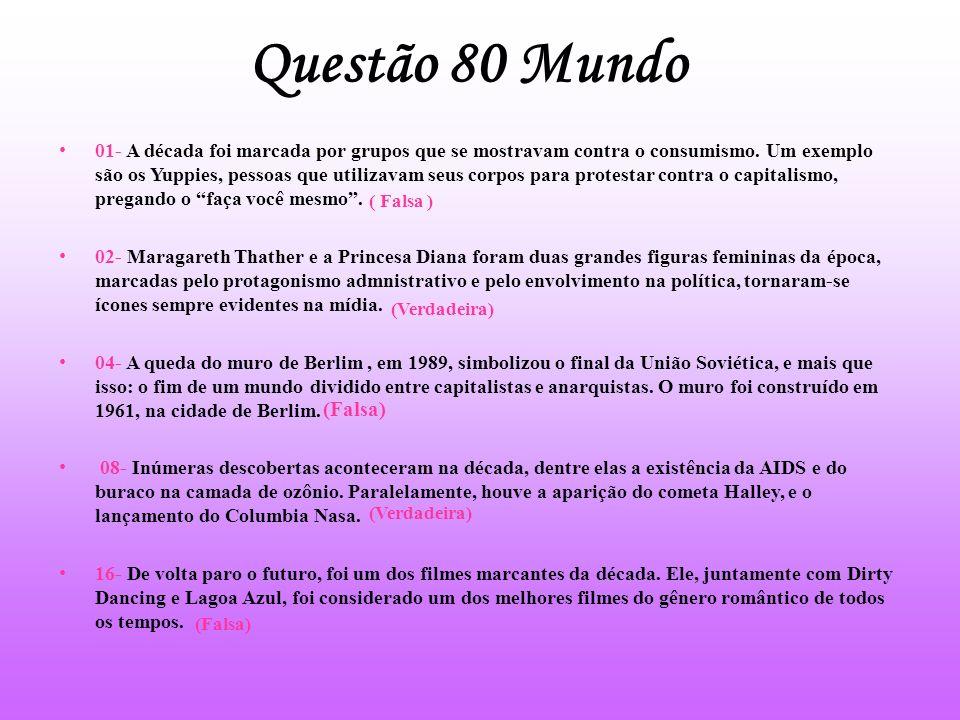 Questão 80 Mundo
