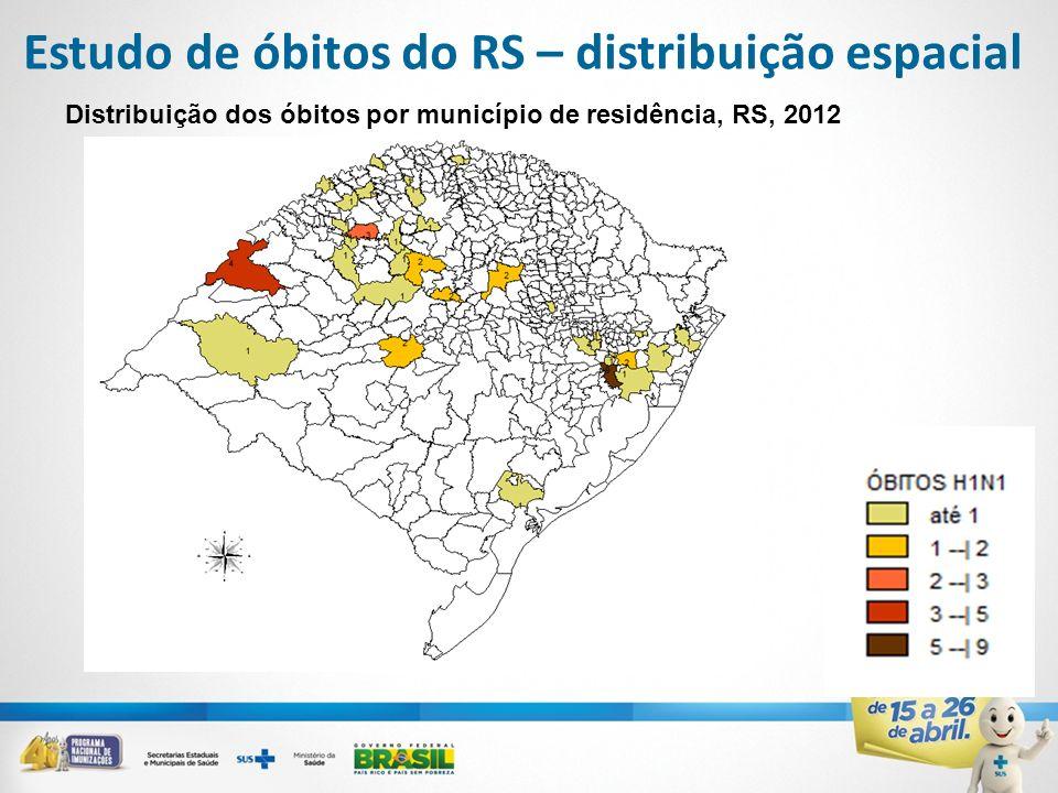 Estudo de óbitos do RS – distribuição espacial