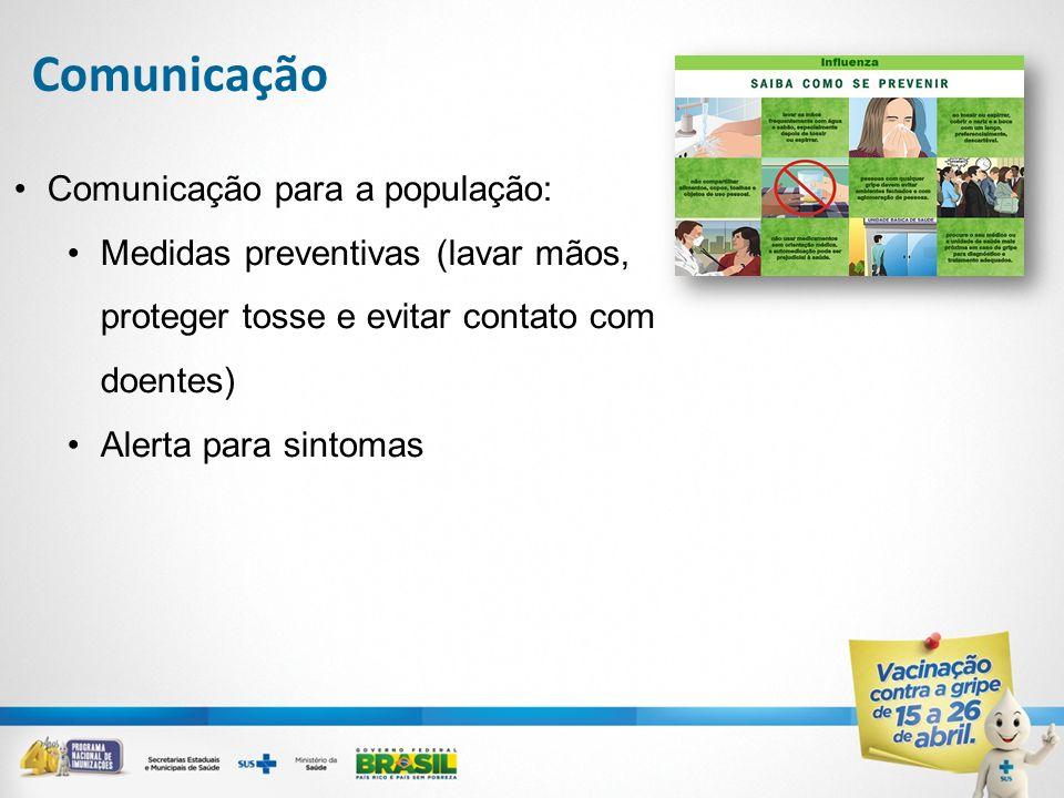 Comunicação Comunicação para a população: