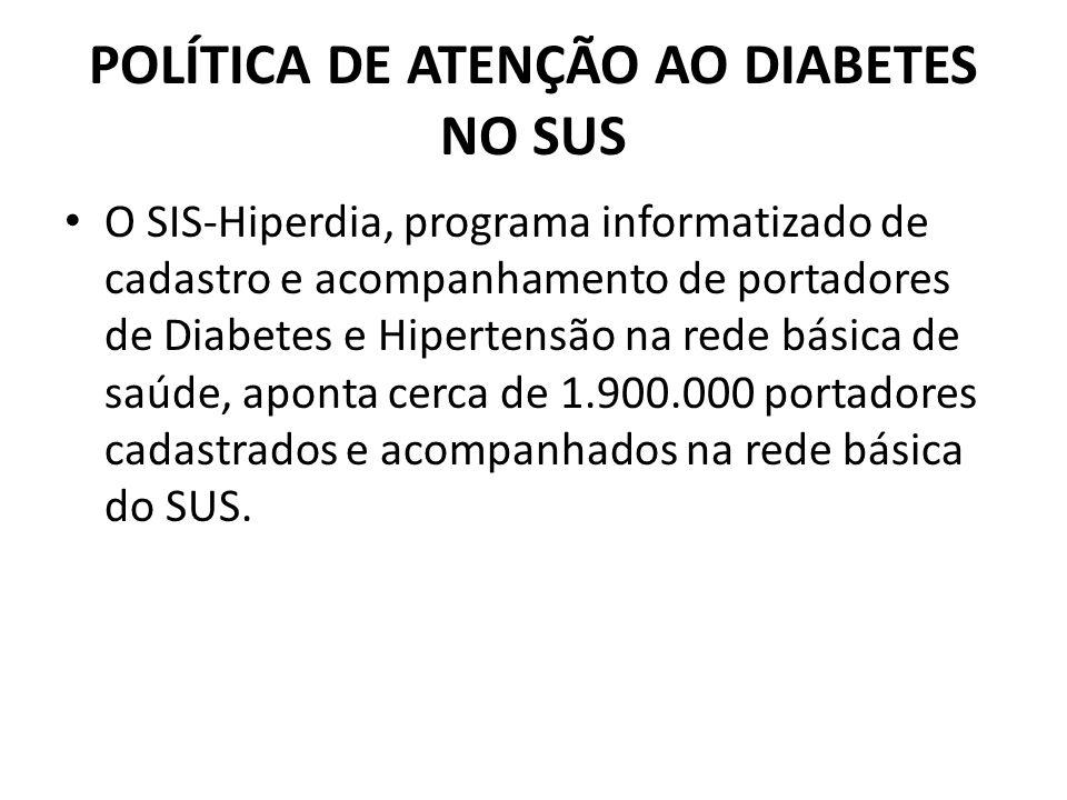 POLÍTICA DE ATENÇÃO AO DIABETES NO SUS