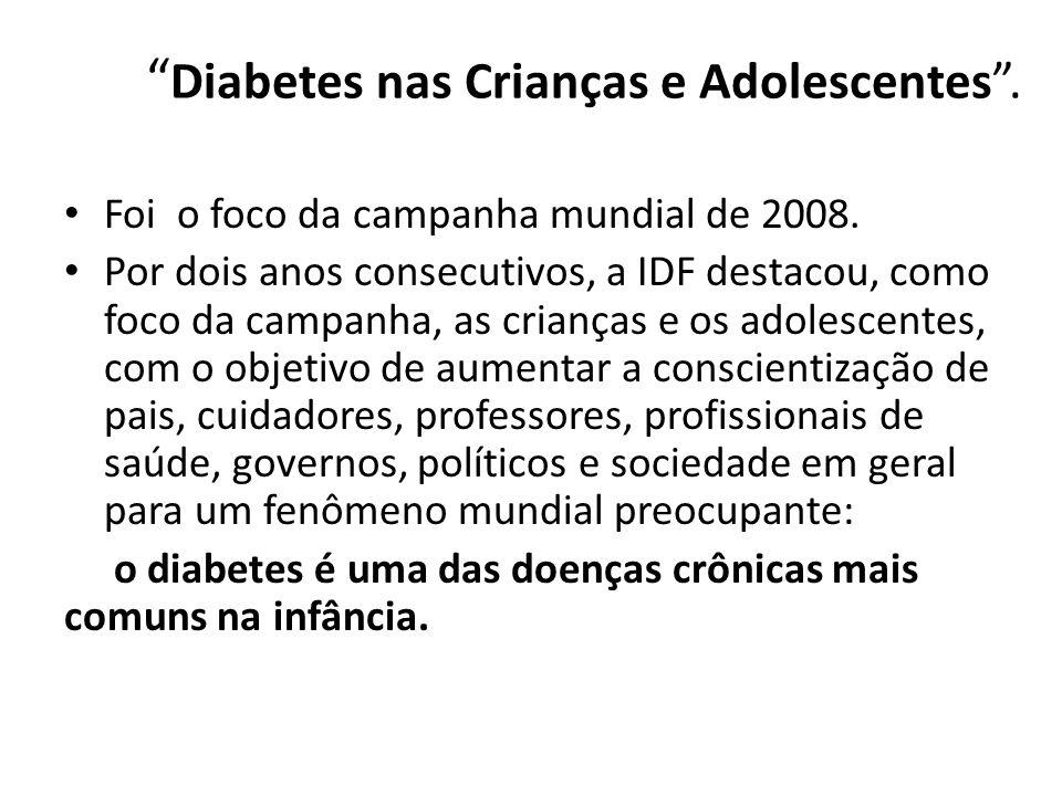 Diabetes nas Crianças e Adolescentes .