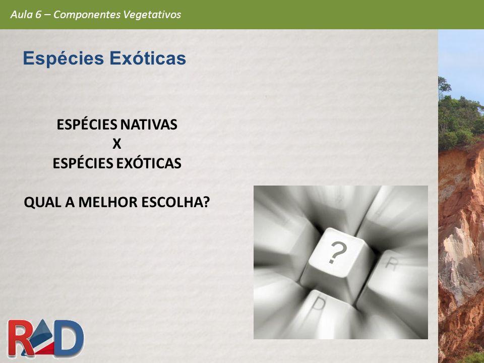 Espécies Exóticas ESPÉCIES NATIVAS X ESPÉCIES EXÓTICAS