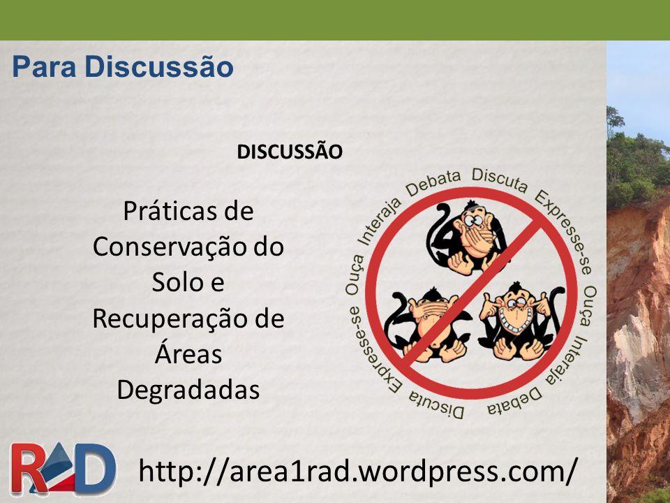 Práticas de Conservação do Solo e Recuperação de Áreas Degradadas
