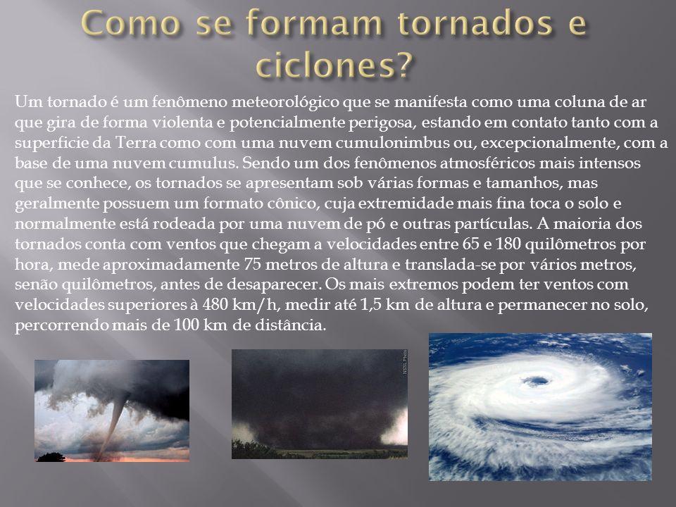 Como se formam tornados e ciclones