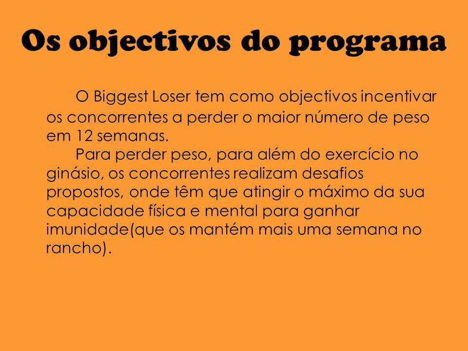 Os objectivos do programa