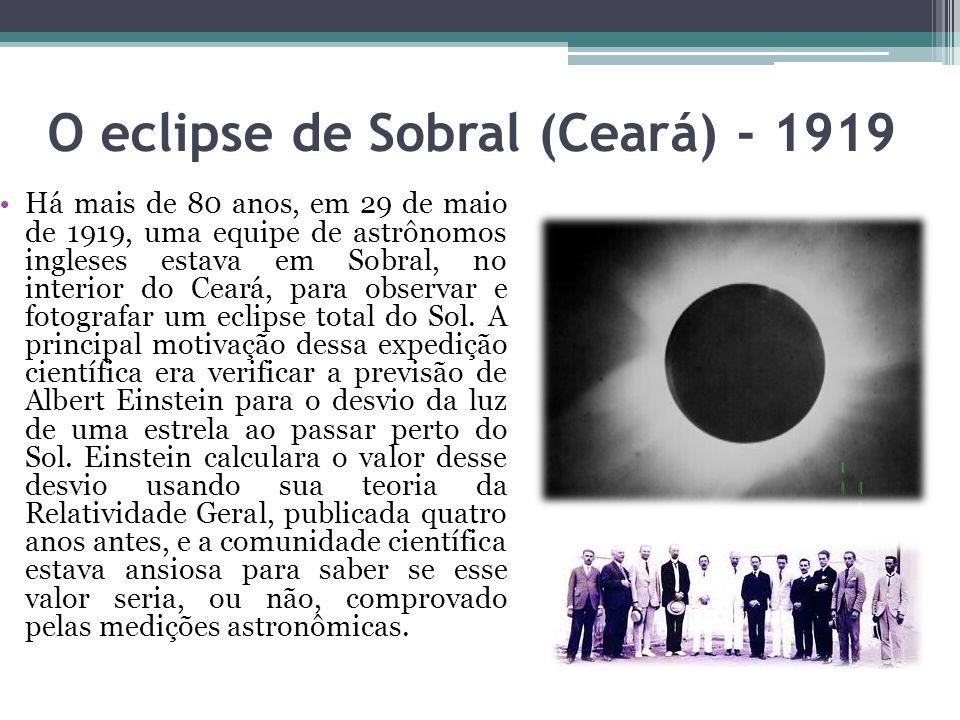 O eclipse de Sobral (Ceará) - 1919