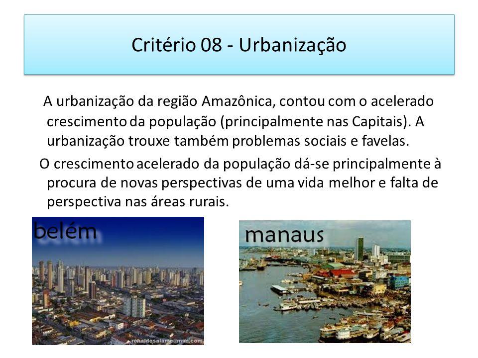 Critério 08 - Urbanização