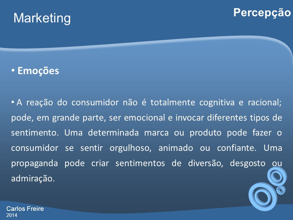 Marketing Percepção Emoções