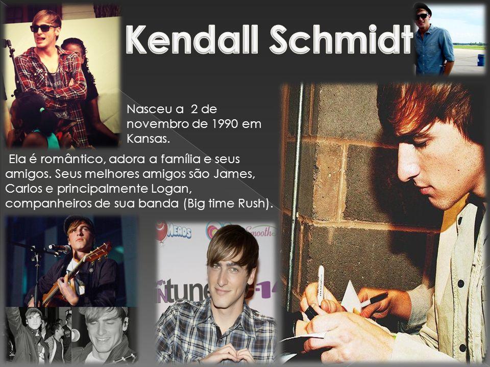 Kendall Schmidt Nasceu a 2 de novembro de 1990 em Kansas.