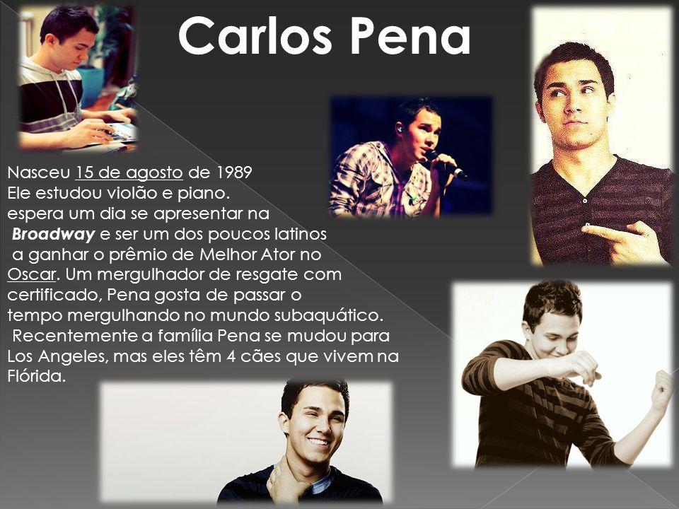 Carlos Pena Nasceu 15 de agosto de 1989 Ele estudou violão e piano.
