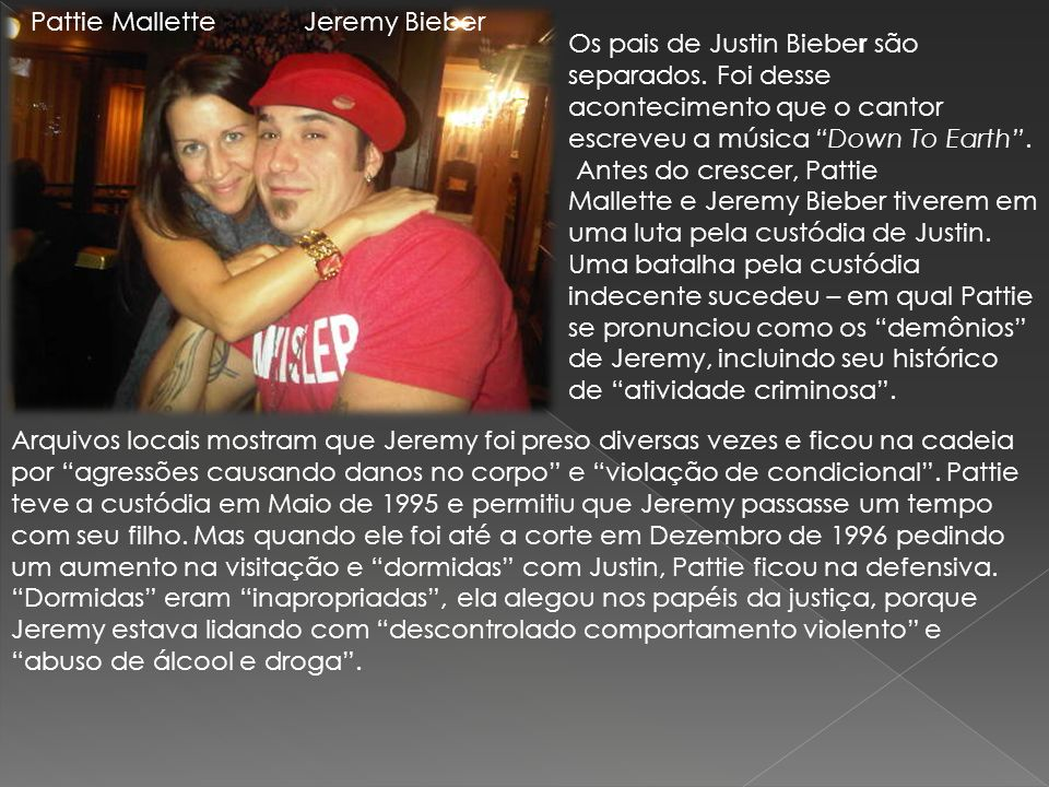 Pattie Mallette Jeremy Bieber.