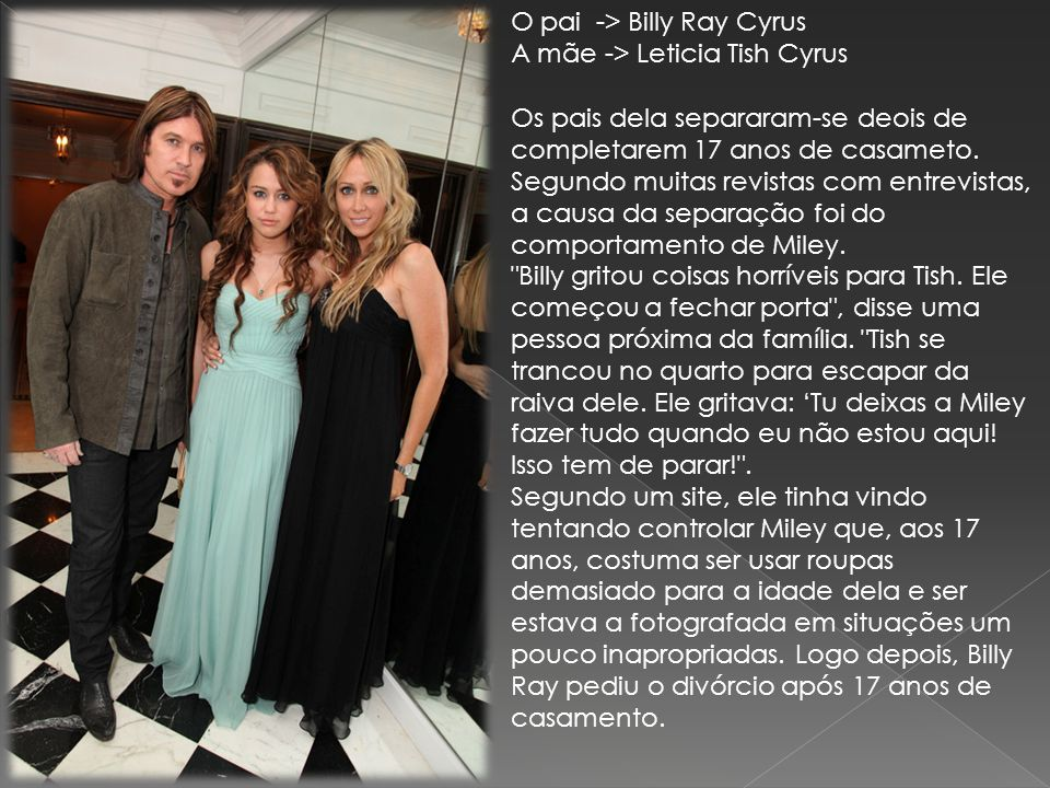 O pai -> Billy Ray Cyrus