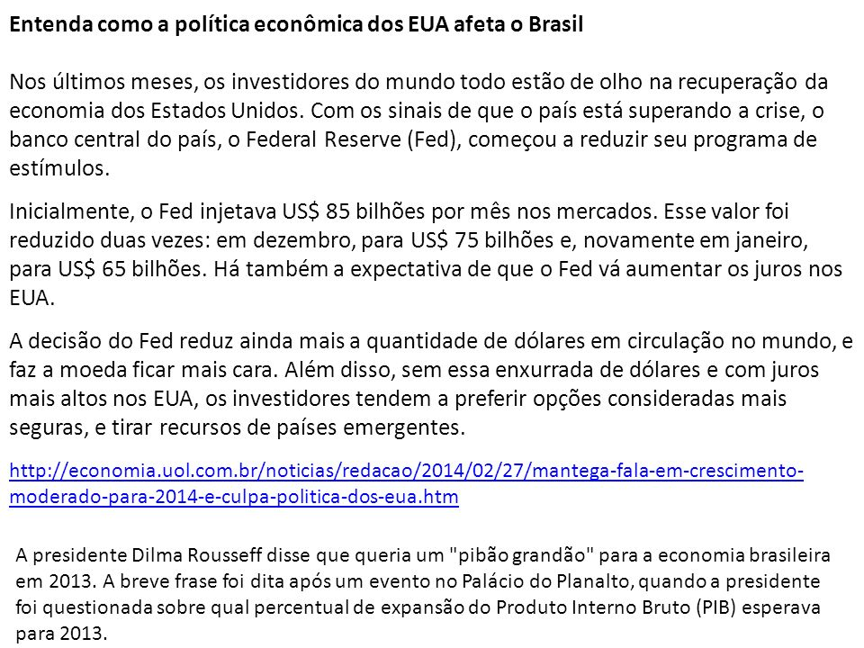 Entenda como a política econômica dos EUA afeta o Brasil