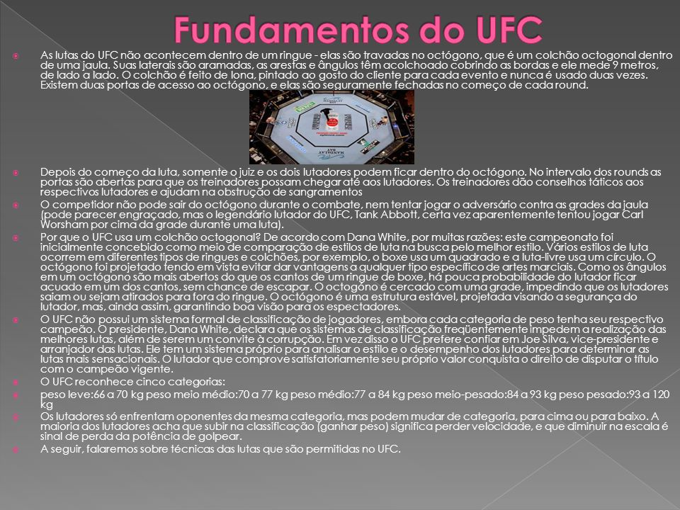 Fundamentos do UFC