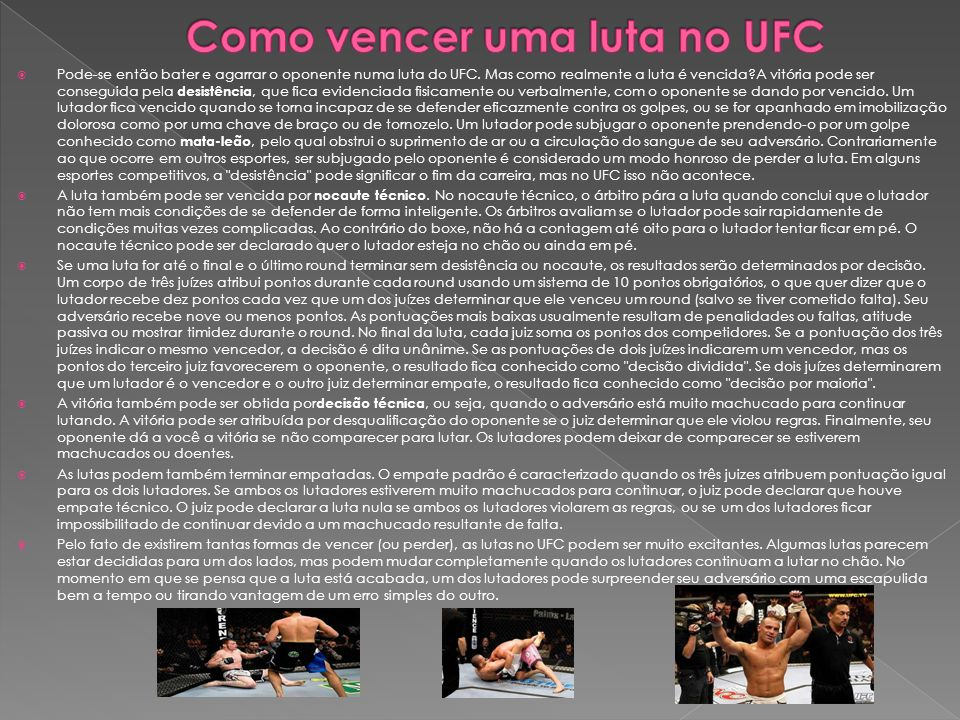 Como vencer uma luta no UFC