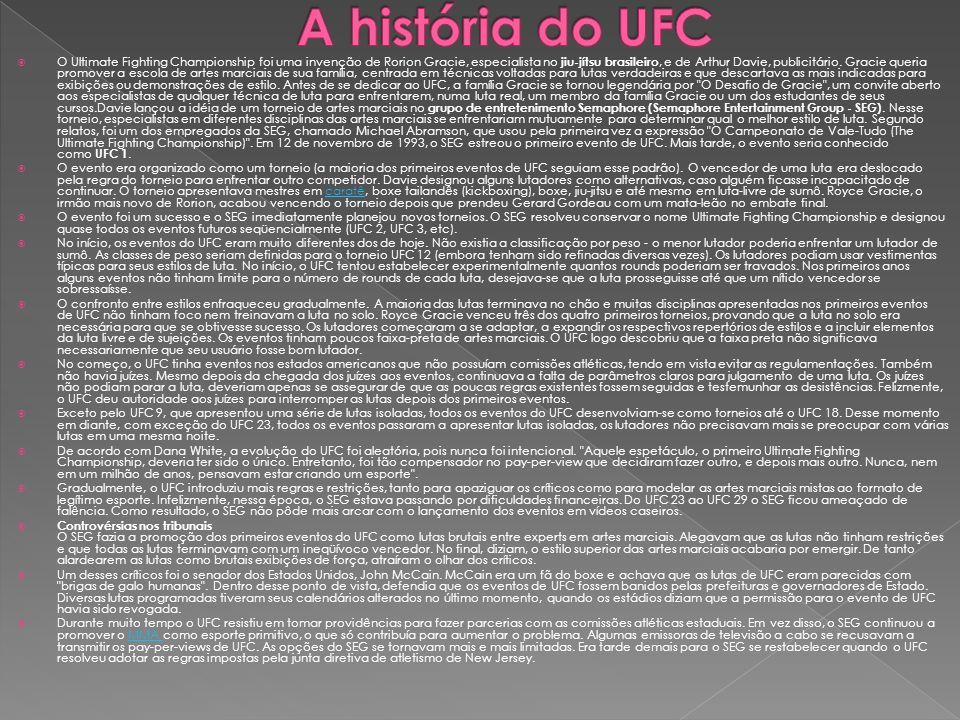 A história do UFC