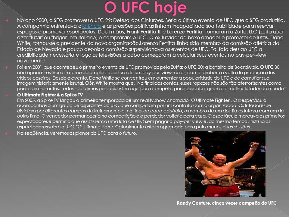 O UFC hoje