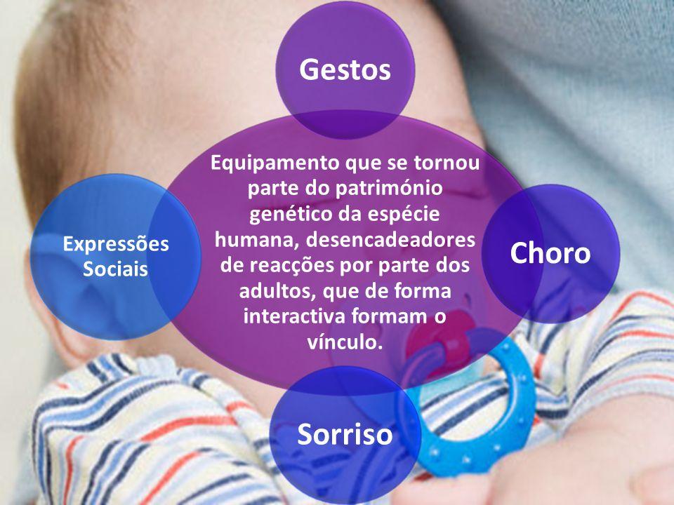 Equipamento que se tornou parte do património genético da espécie humana, desencadeadores de reacções por parte dos adultos, que de forma interactiva formam o vínculo.