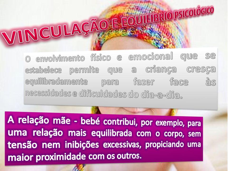 VINCULAÇÃO E EQUILIBRIO PSICOLÓGICO