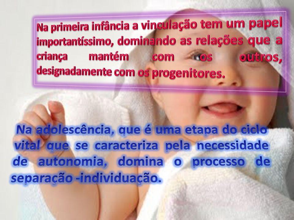 Na primeira infância a vinculação tem um papel importantíssimo, dominando as relações que a criança mantém com os outros, designadamente com os progenitores.