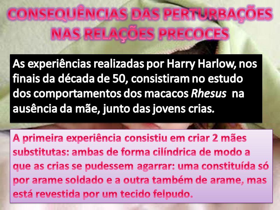 CONSEQUÊNCIAS DAS PERTURBAÇÕES NAS RELAÇÕES PRECOCES