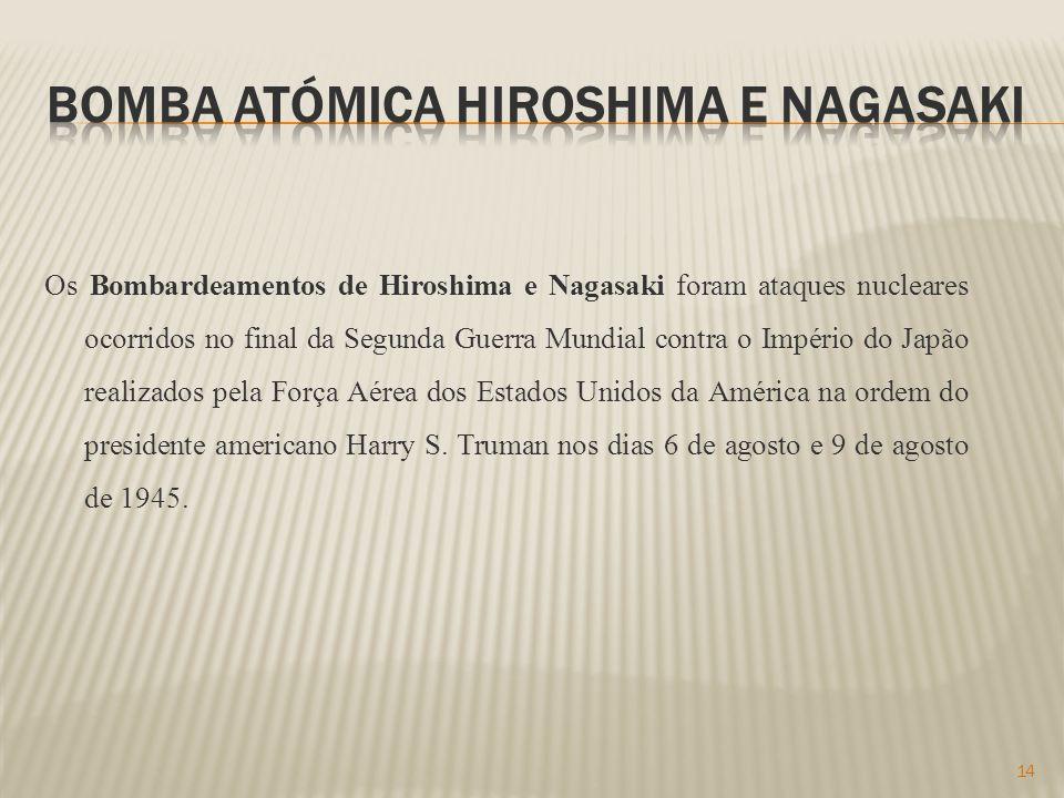 Bomba atómica hiroshima e Nagasaki
