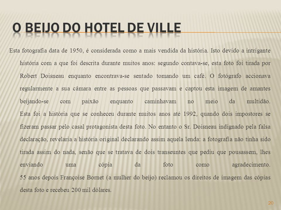 O beijo do hotel de ville