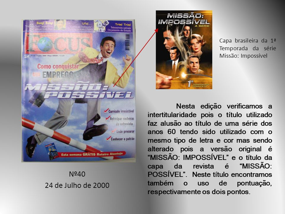 Capa brasileira da 1ª Temporada da série Missão: Impossível
