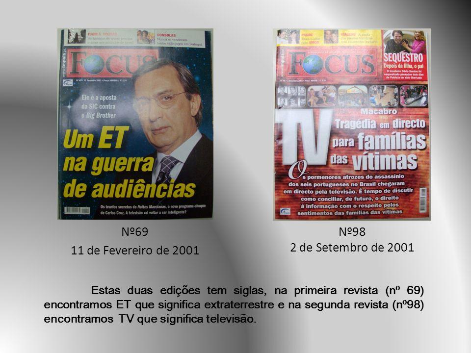 Nº69 11 de Fevereiro de 2001 Nº98 2 de Setembro de 2001