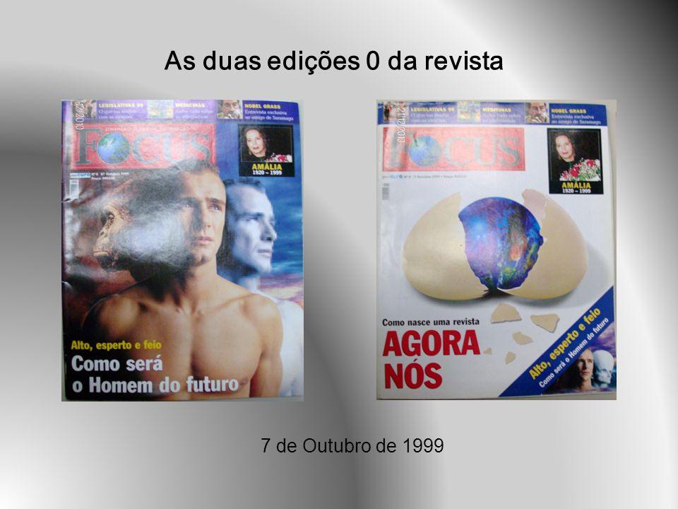 As duas edições 0 da revista