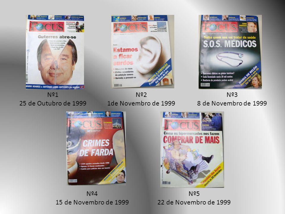 Nº1 25 de Outubro de 1999. Nº2. 1de Novembro de 1999. Nº3. 8 de Novembro de 1999. Nº4. 15 de Novembro de 1999.