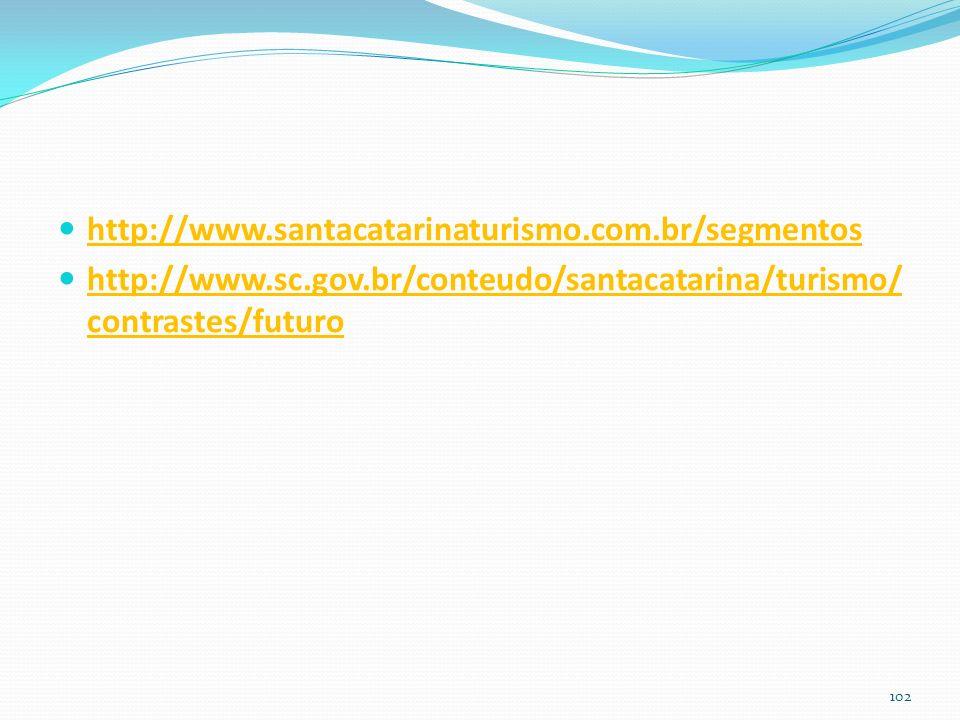 http://www.santacatarinaturismo.com.br/segmentos http://www.sc.gov.br/conteudo/santacatarina/turismo/contrastes/futuro.