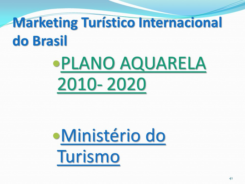 Marketing Turístico Internacional do Brasil