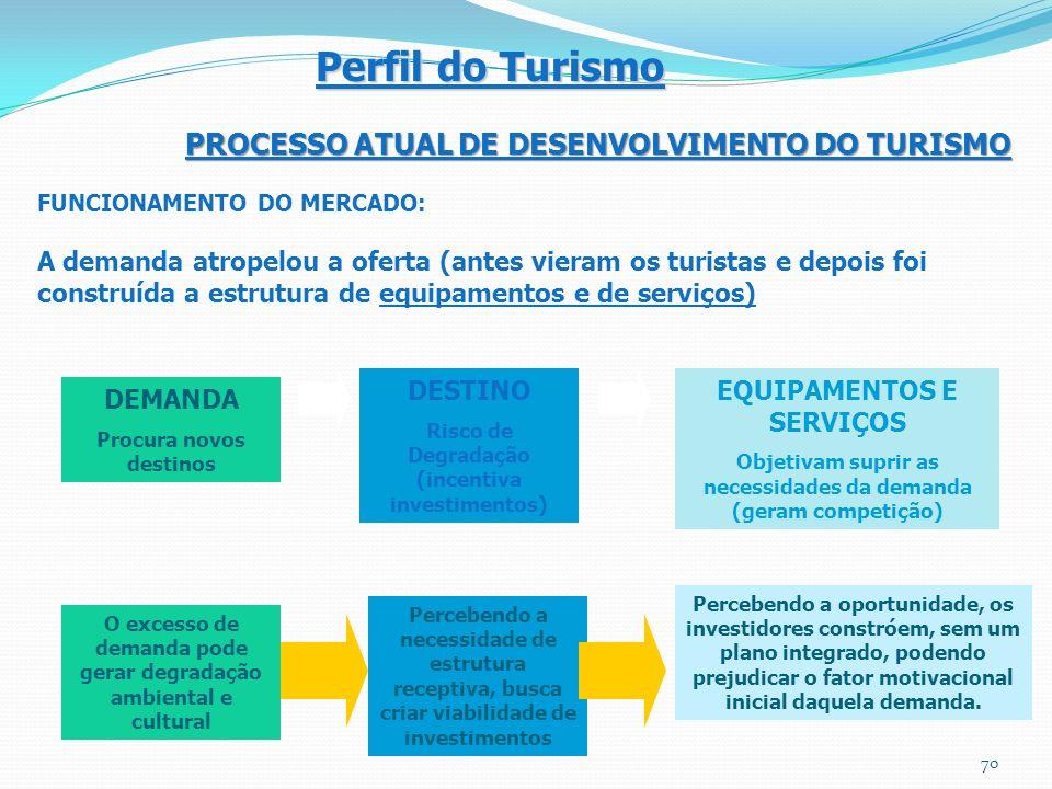 Perfil do Turismo PROCESSO ATUAL DE DESENVOLVIMENTO DO TURISMO