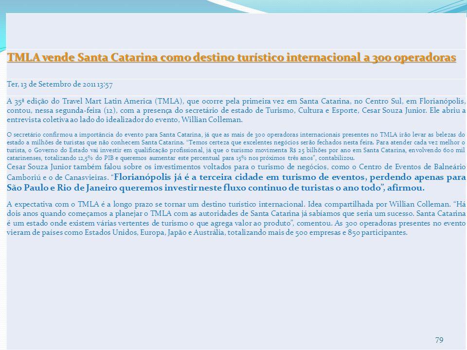 TMLA vende Santa Catarina como destino turístico internacional a 300 operadoras
