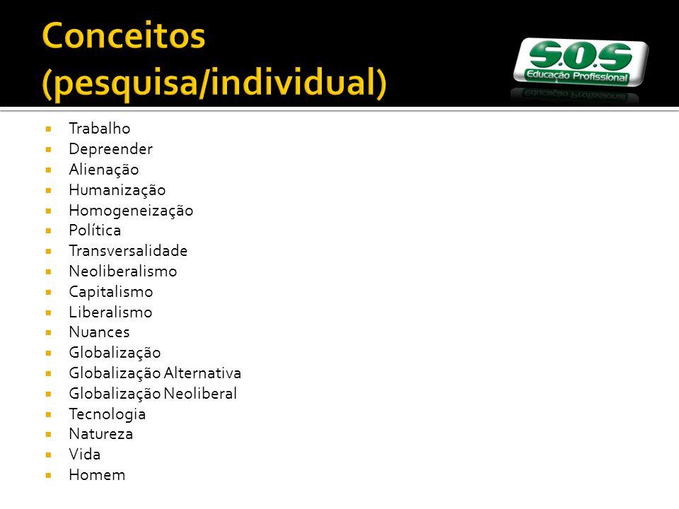 Conceitos (pesquisa/individual)