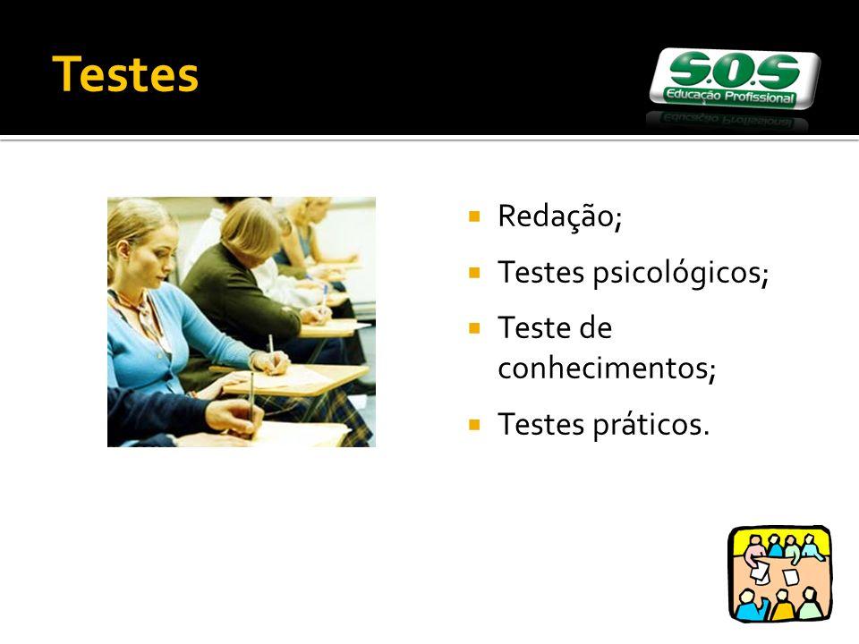Testes Redação; Testes psicológicos; Teste de conhecimentos;