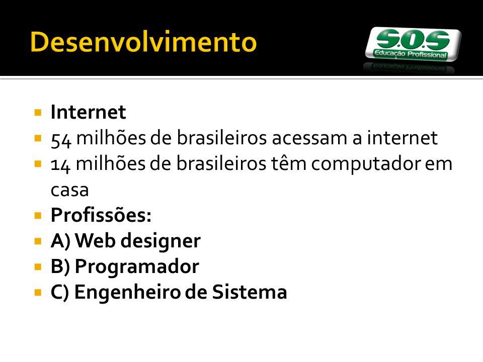 Desenvolvimento Internet 54 milhões de brasileiros acessam a internet
