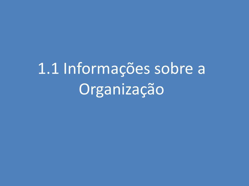 1.1 Informações sobre a Organização