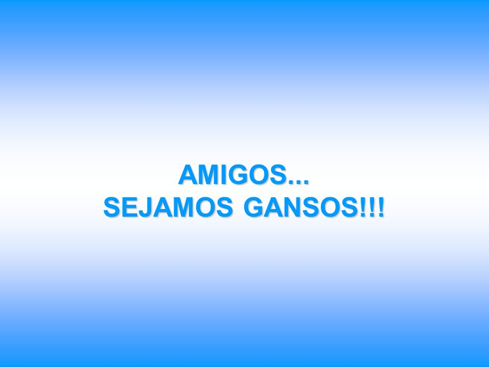 AMIGOS... SEJAMOS GANSOS!!!