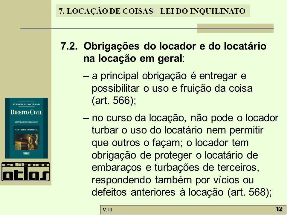7.2. Obrigações do locador e do locatário