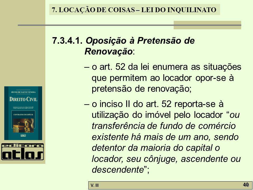7.3.4.1. Oposição à Pretensão de Renovação: