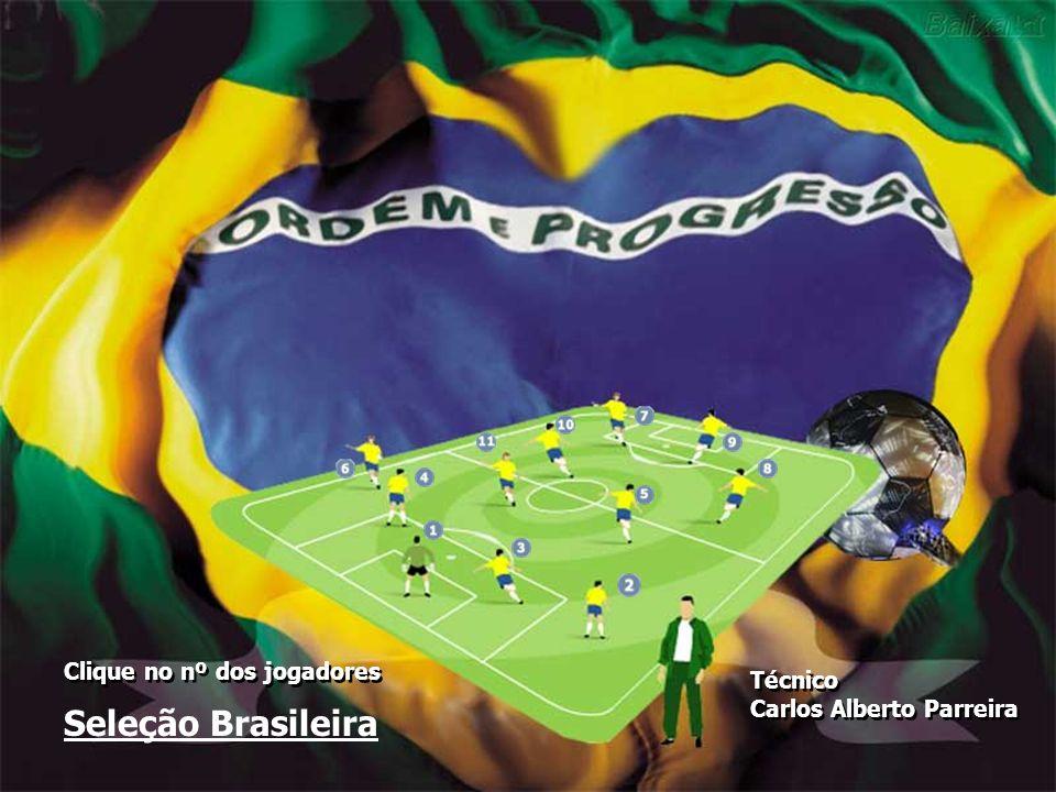 Seleção Brasileira Clique no nº dos jogadores Técnico