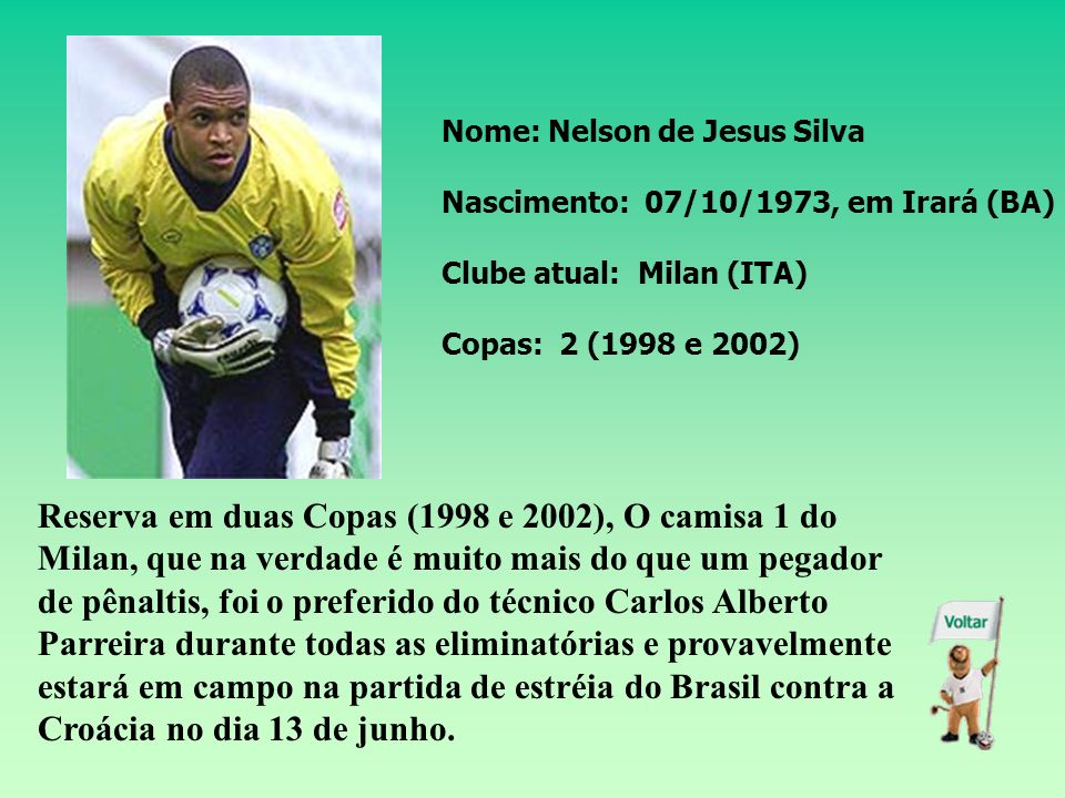Nome: Nelson de Jesus Silva